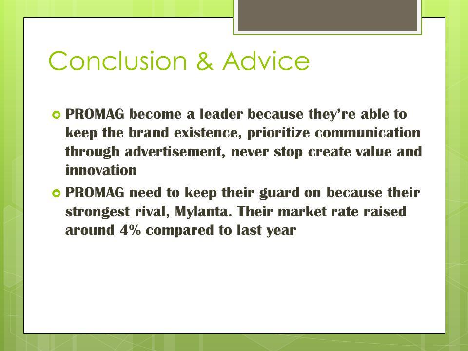 Conclusion & Advice