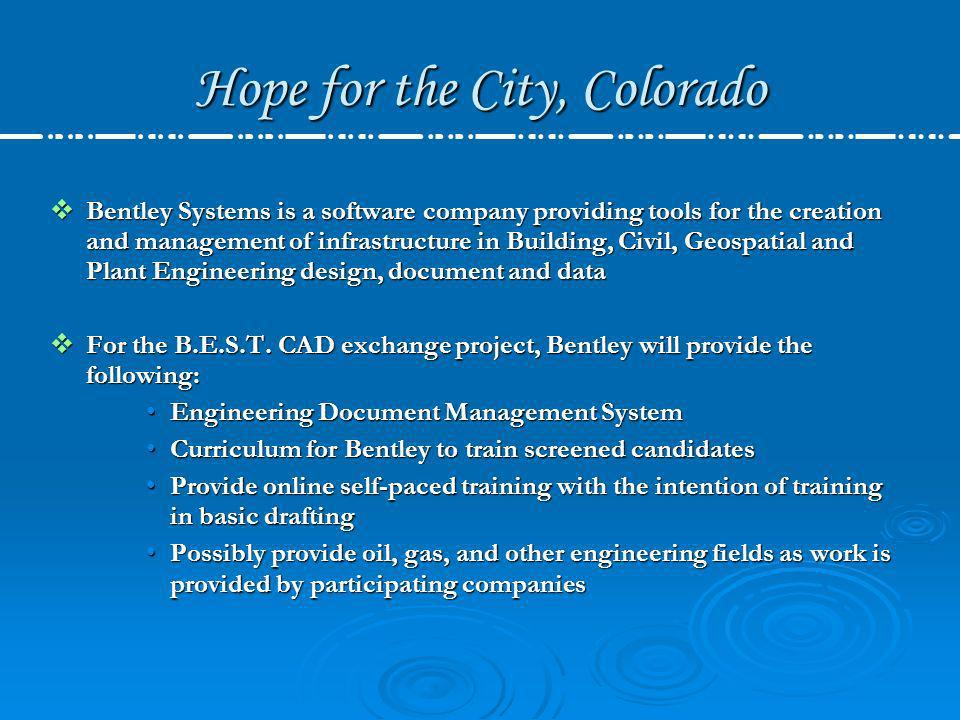 Hope for the City, Colorado