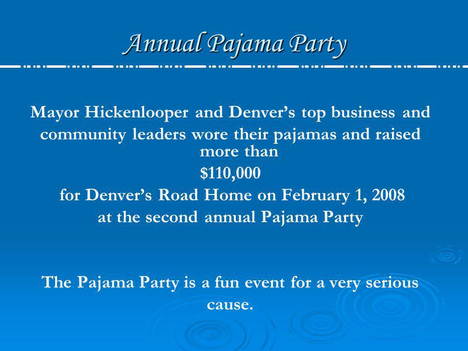 Annual Pajama Party Mayor Hickenlooper and Denver's top business and