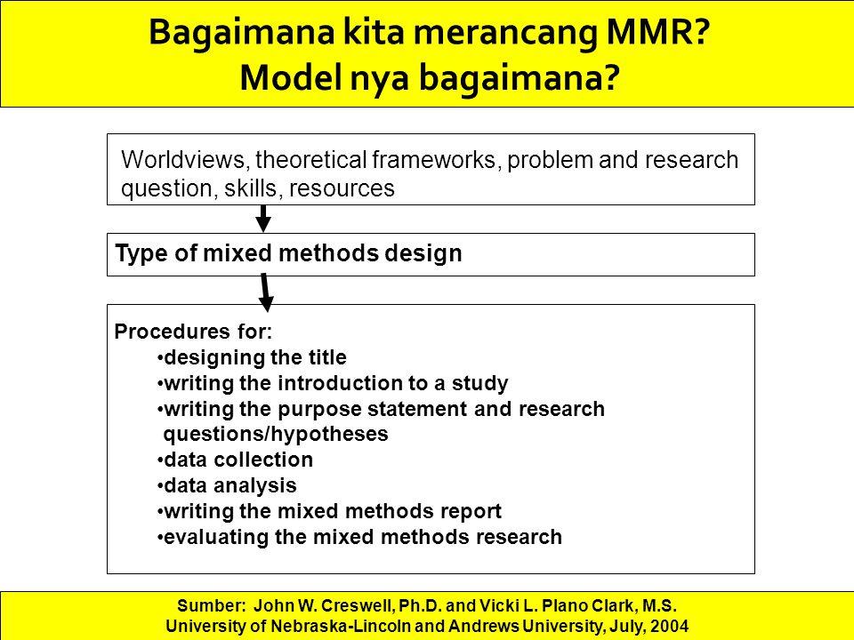 Bagaimana kita merancang MMR Model nya bagaimana