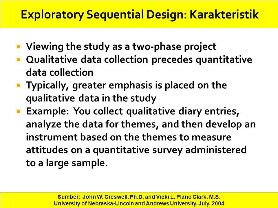 Exploratory Sequential Design: Karakteristik