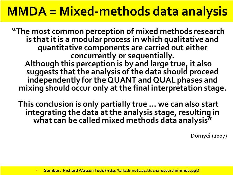 MMDA = Mixed-methods data analysis