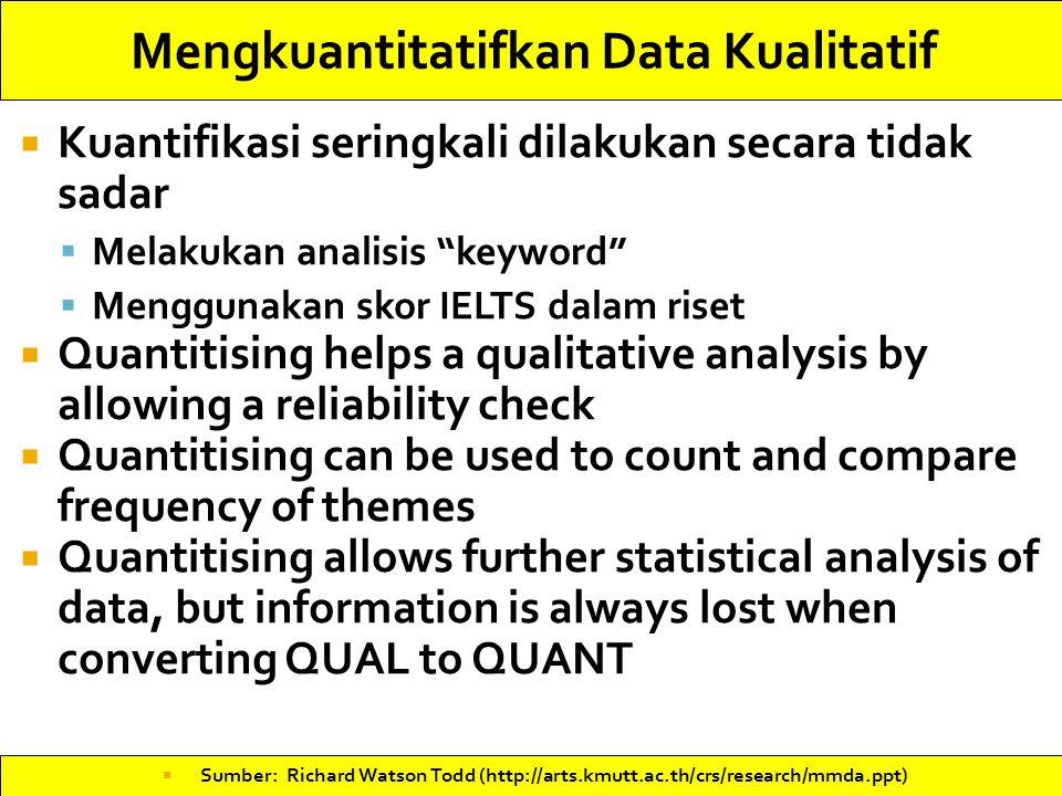 Mengkuantitatifkan Data Kualitatif