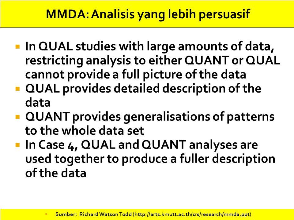 MMDA: Analisis yang lebih persuasif