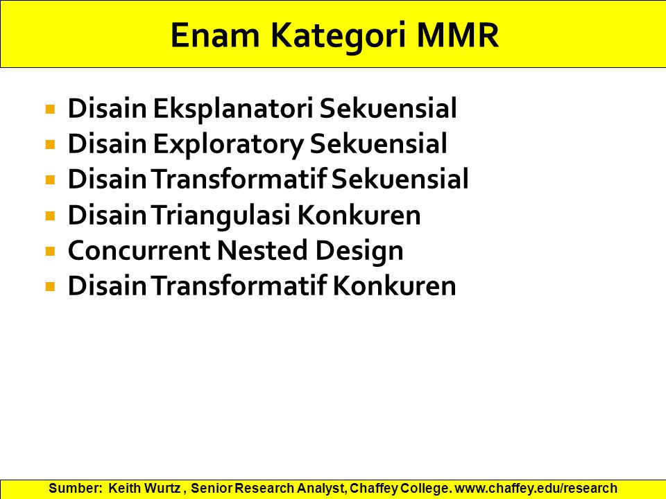 Enam Kategori MMR Disain Eksplanatori Sekuensial