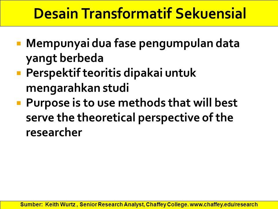 Desain Transformatif Sekuensial