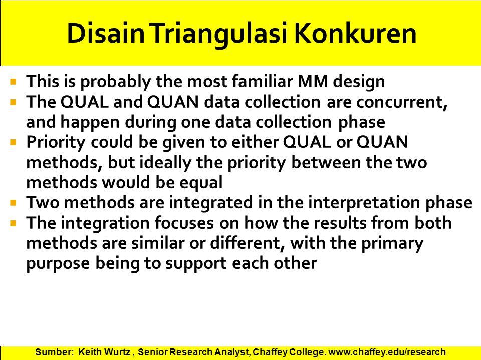 Disain Triangulasi Konkuren