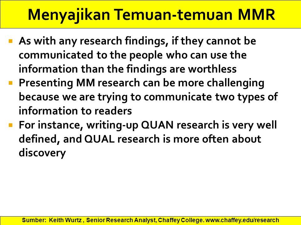 Menyajikan Temuan-temuan MMR