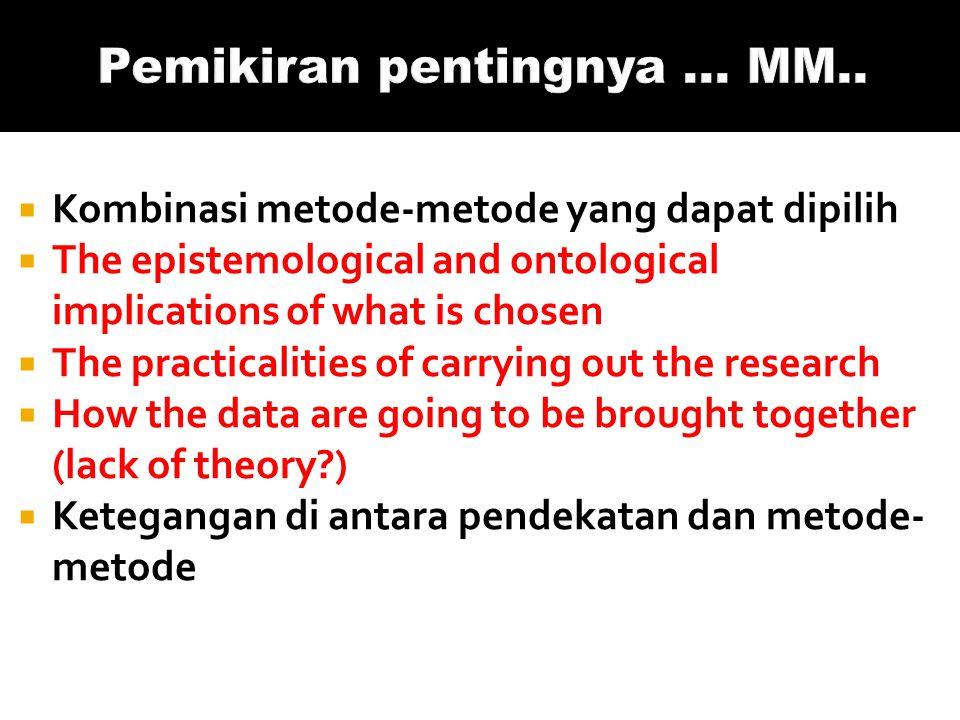 Pemikiran pentingnya ... MM..
