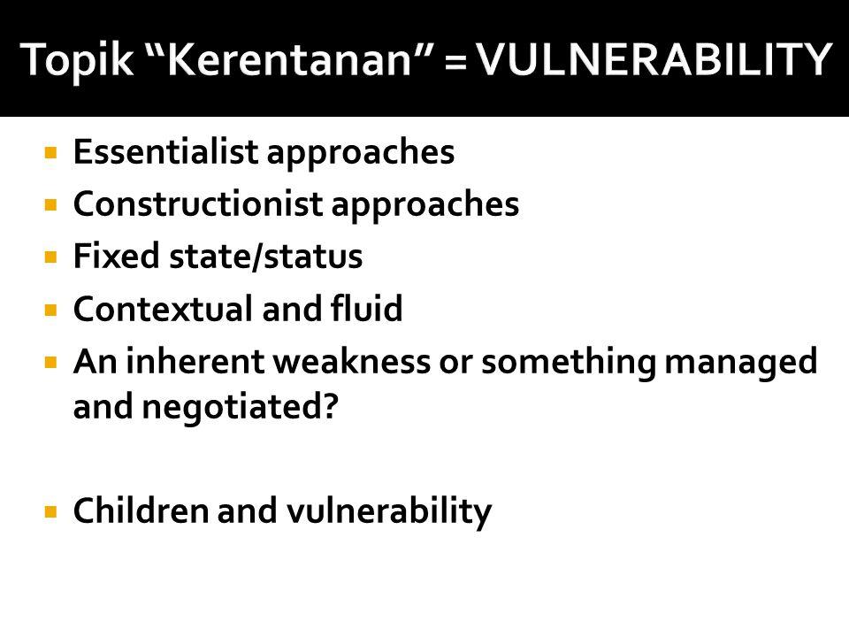 Topik Kerentanan = VULNERABILITY