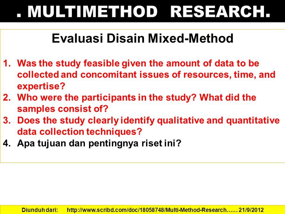Evaluasi Disain Mixed-Method