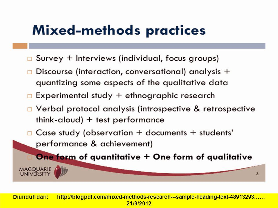 case study mixed method research