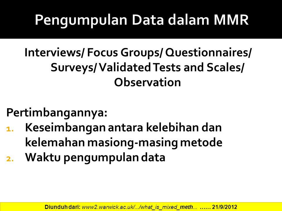 Pengumpulan Data dalam MMR