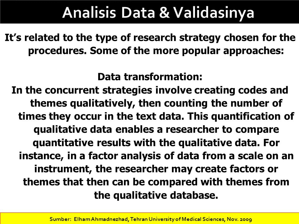 Analisis Data & Validasinya