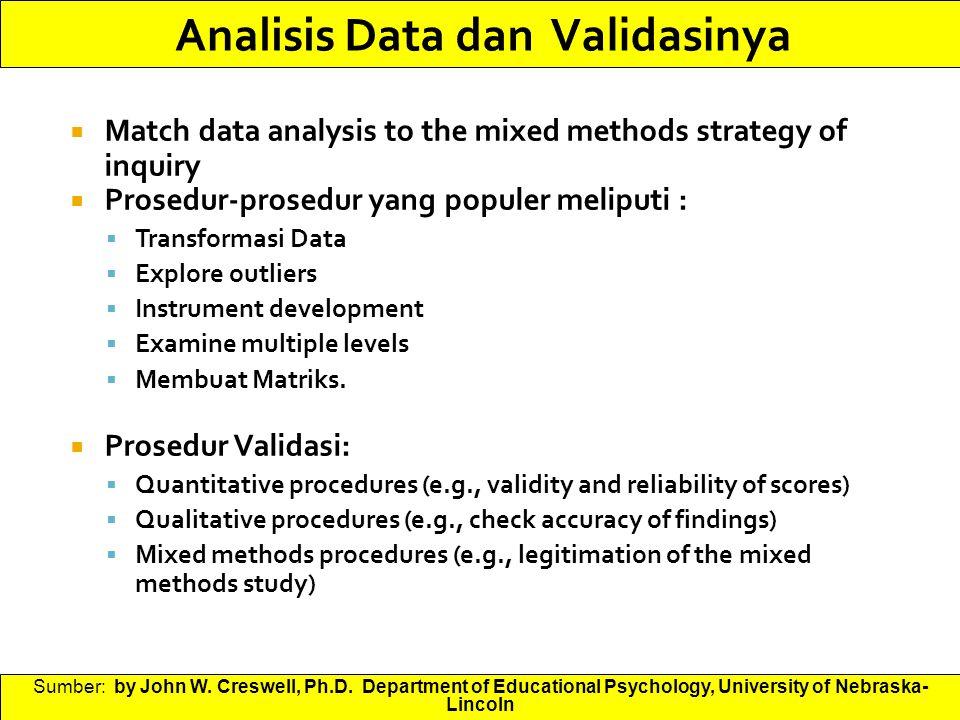 Analisis Data dan Validasinya