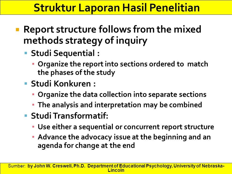 Struktur Laporan Hasil Penelitian