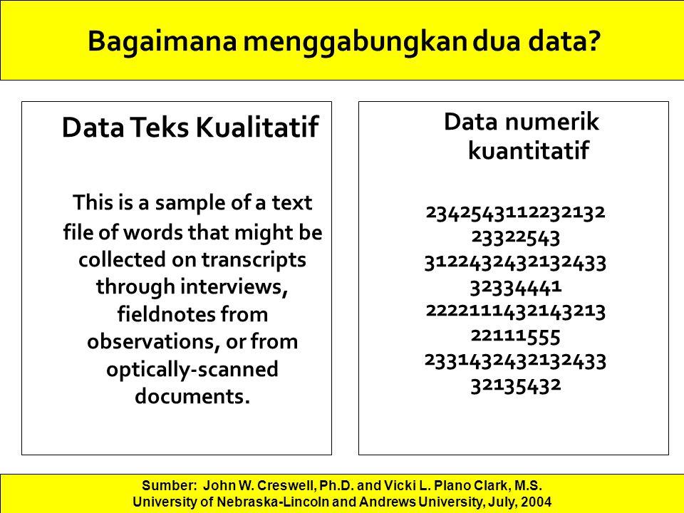 Bagaimana menggabungkan dua data