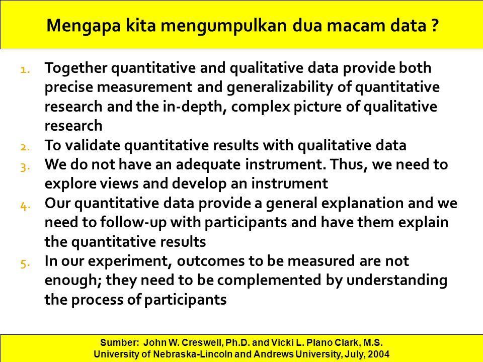Mengapa kita mengumpulkan dua macam data