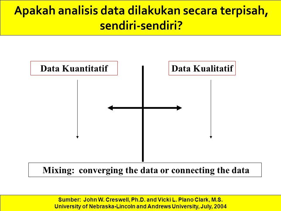 Apakah analisis data dilakukan secara terpisah, sendiri-sendiri