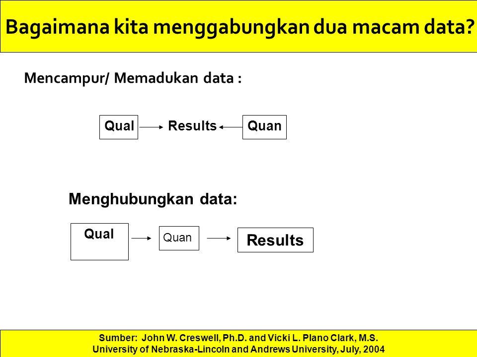 Bagaimana kita menggabungkan dua macam data