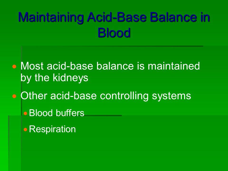 Maintaining Acid-Base Balance in Blood