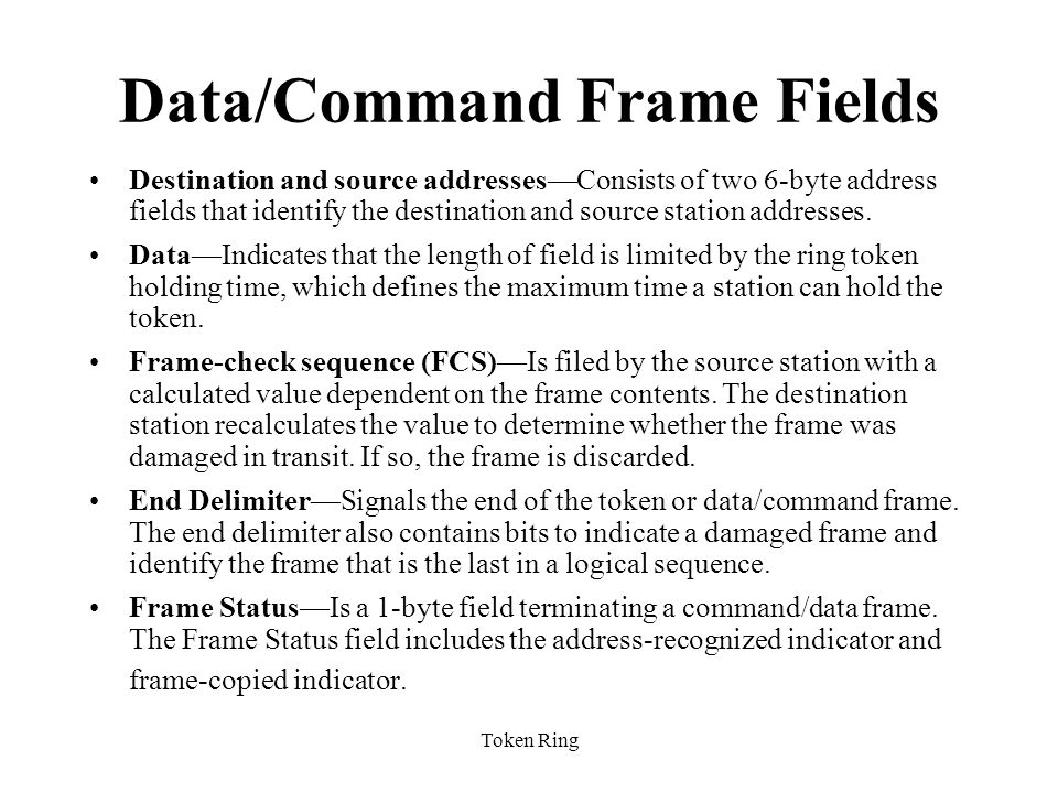 Data/Command Frame Fields