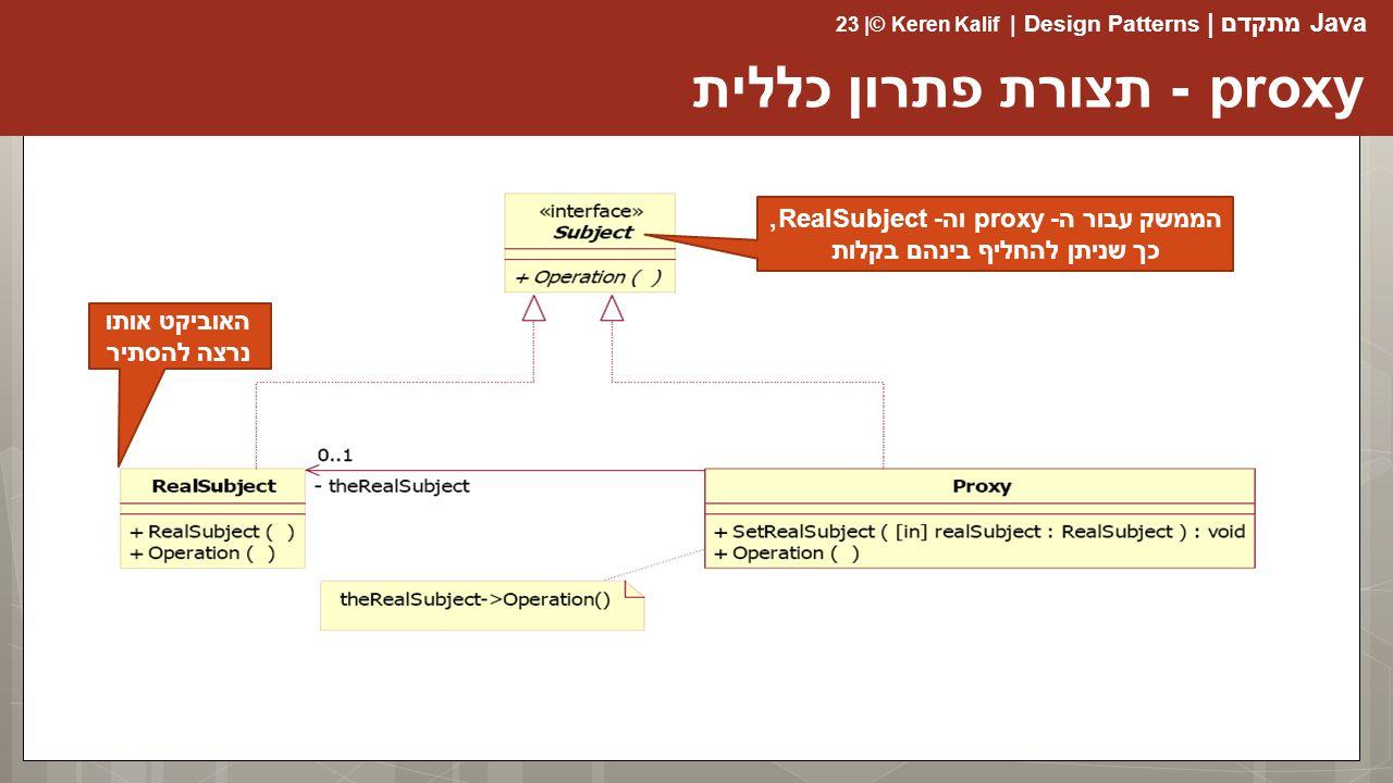 proxy - תצורת פתרון כללית