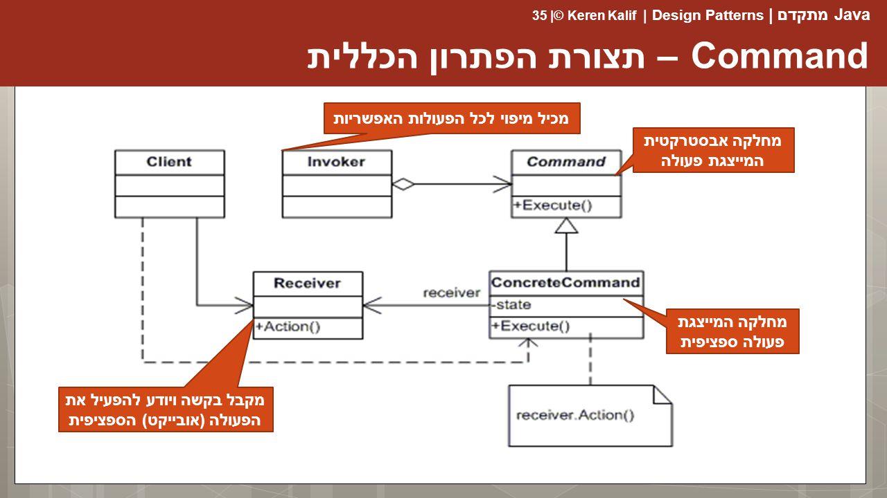 Command – תצורת הפתרון הכללית
