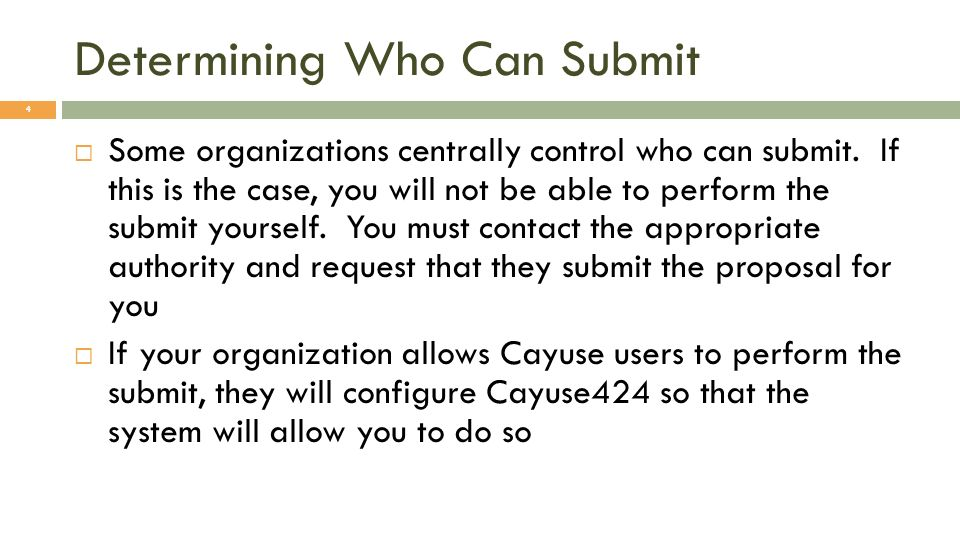Determining Who Can Submit
