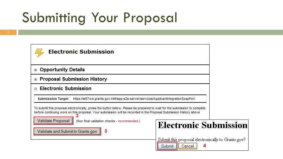 Submitting Your Proposal