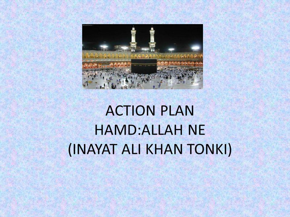 ACTION PLAN HAMD:ALLAH NE (INAYAT ALI KHAN TONKI)