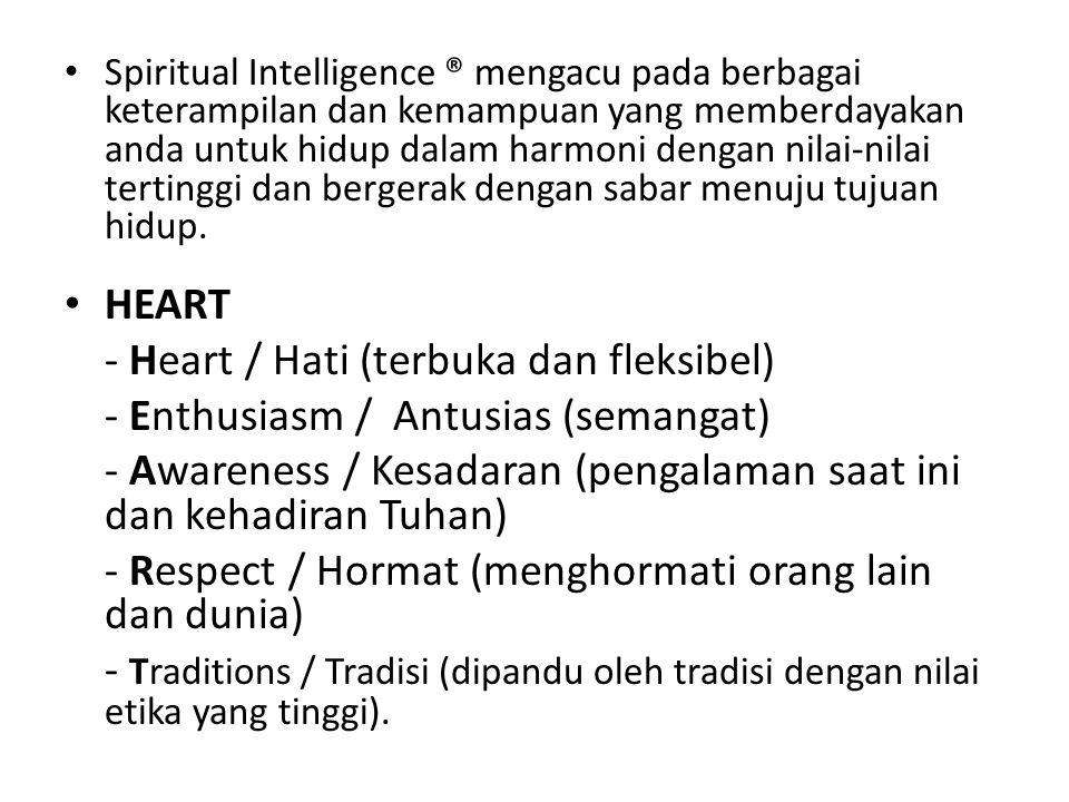 - Heart / Hati (terbuka dan fleksibel)