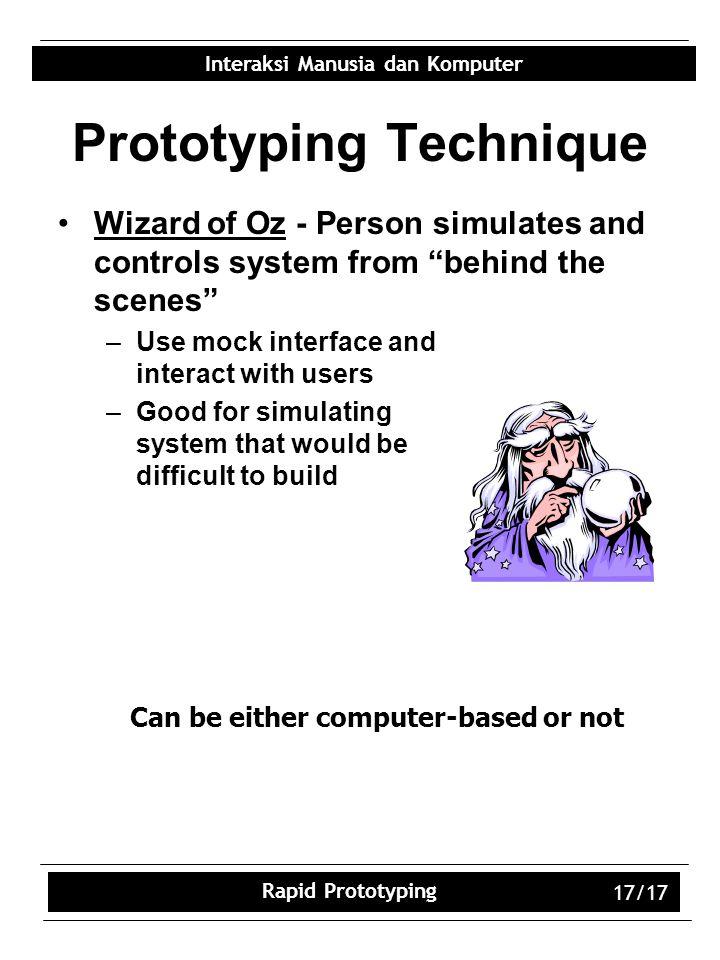 Prototyping Technique