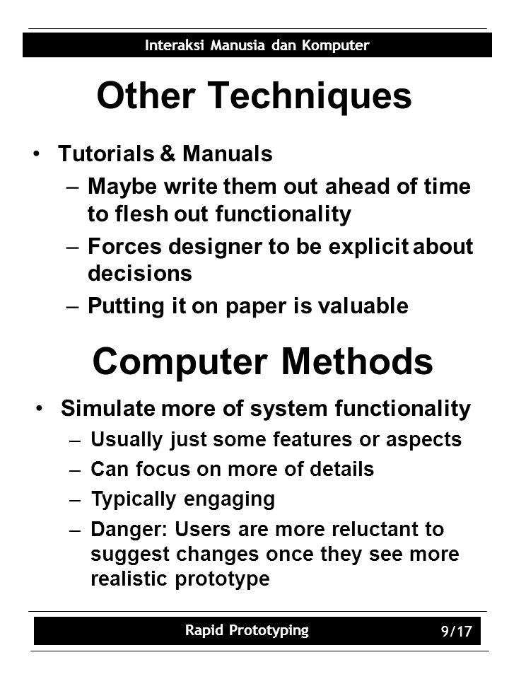 Other Techniques Computer Methods