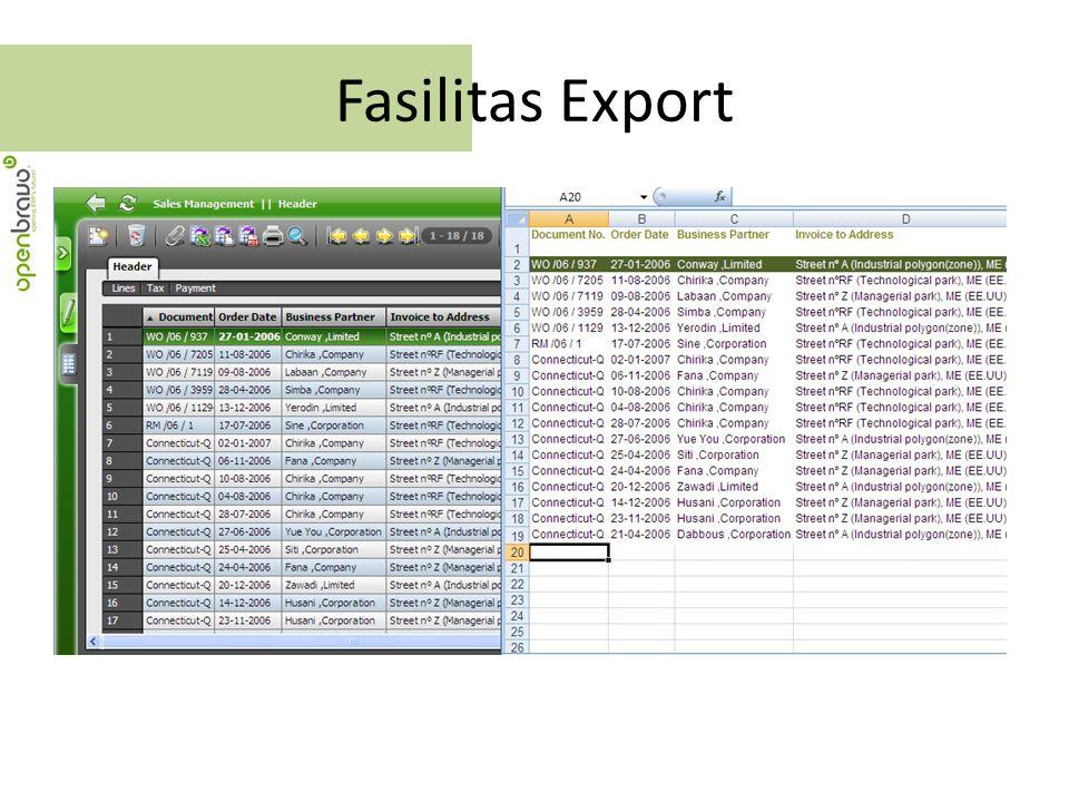 Fasilitas Export