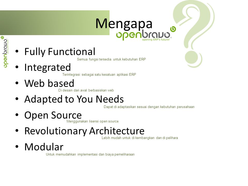 Mengapa Fully Functional Integrated Web based Adapted to You Needs
