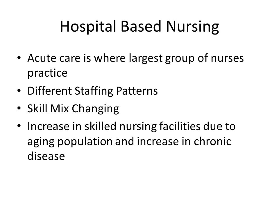 Hospital Based Nursing