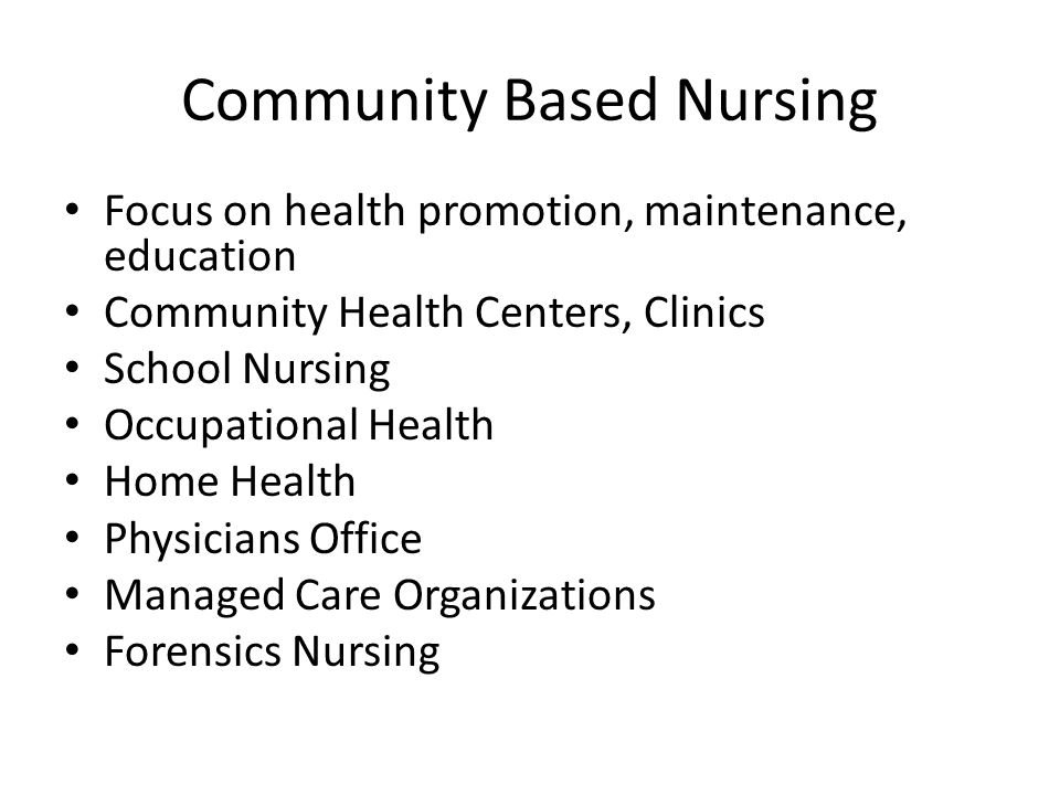 Community Based Nursing