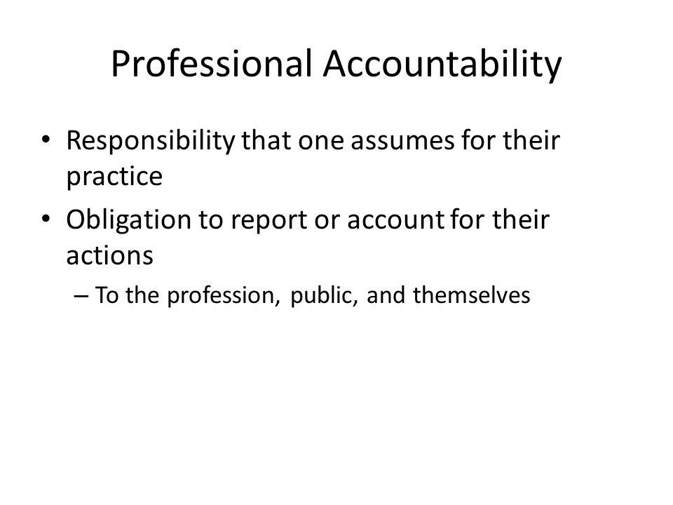 Professional Accountability