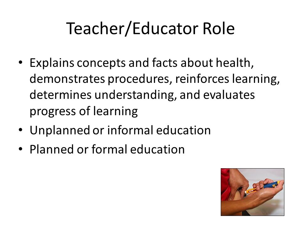 Teacher/Educator Role