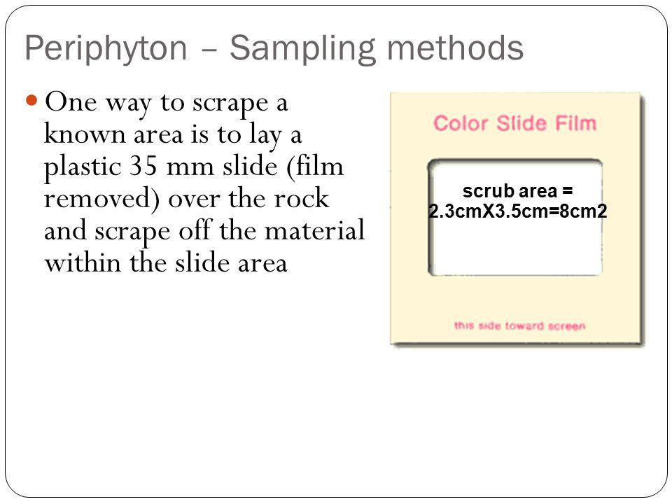 Periphyton – Sampling methods