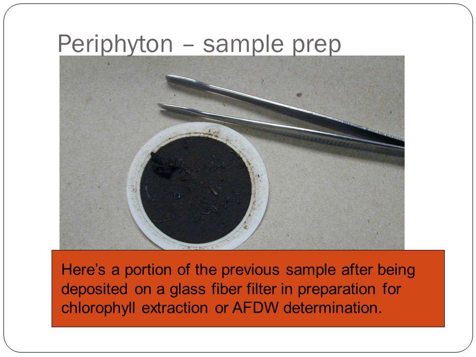 Periphyton – sample prep