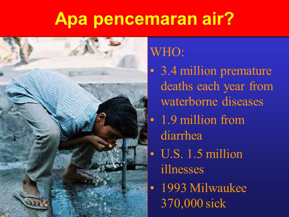 Apa pencemaran air WHO: