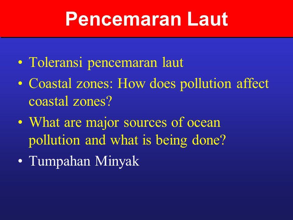 Pencemaran Laut Toleransi pencemaran laut