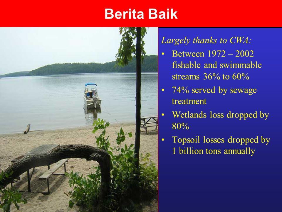 Berita Baik Largely thanks to CWA: