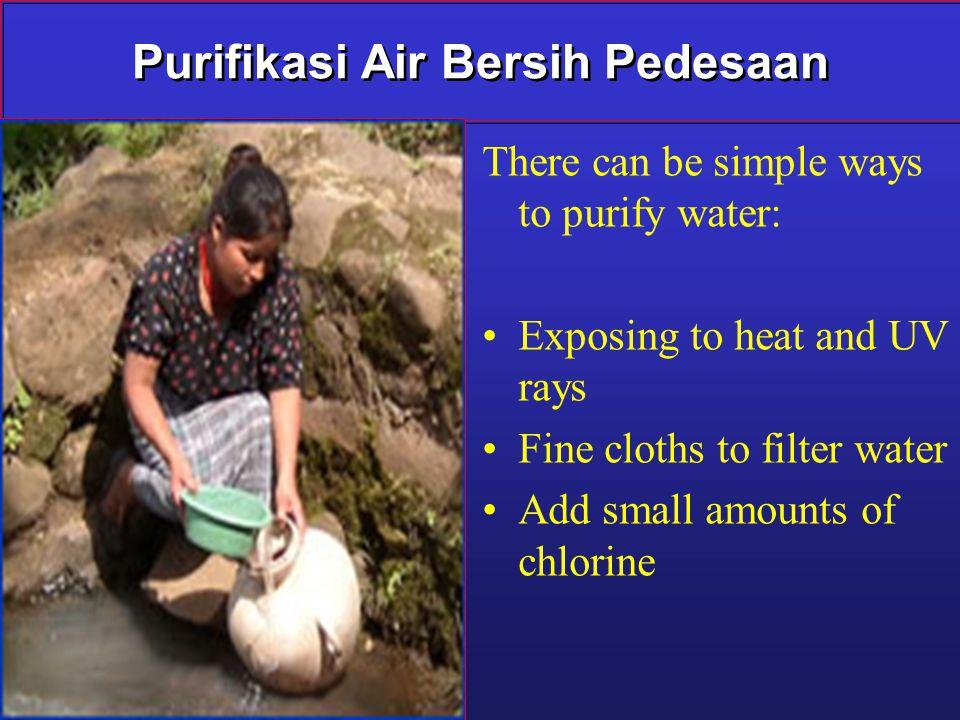 Purifikasi Air Bersih Pedesaan