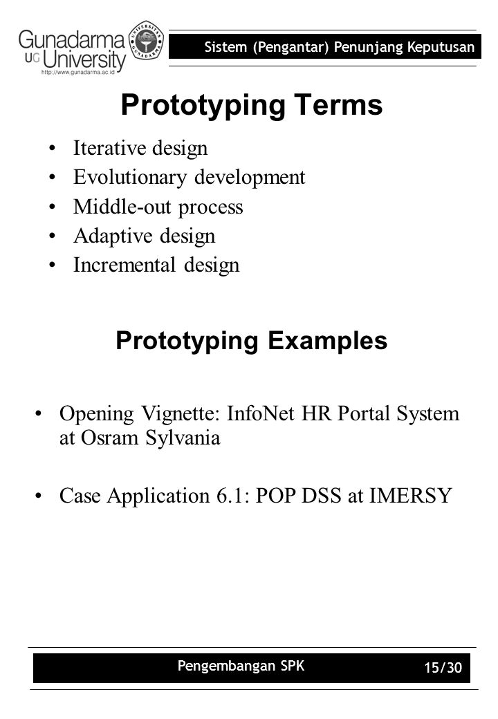 Prototyping Terms Prototyping Examples Iterative design