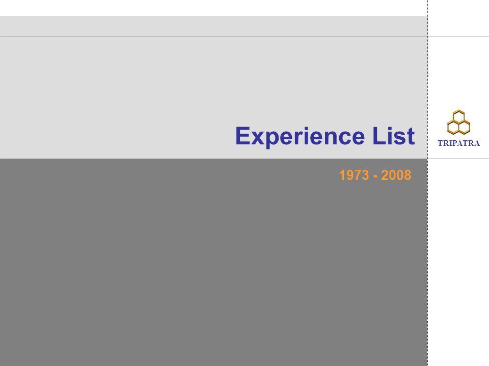 TRIPATRA Experience List 1973 - 2008