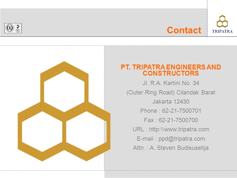 PT. TRIPATRA ENGINEERS AND CONSTRUCTORS