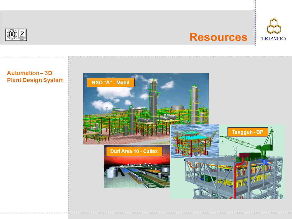 Resources Automation – 3D Plant Design System NSO A - Mobil